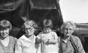 1927 ca Leone, Rozella, Merna, Ida May, four generations