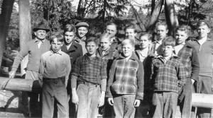 1941-04 Boy Scout Troop 325 at Lake Twenty-Two near Mt Pilchuck