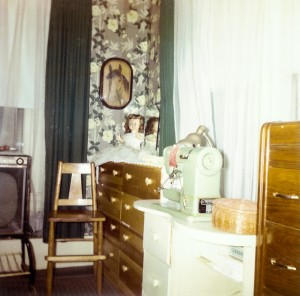 1965-10-20 library, sewing room, downstairs bedroom from inside showing south wall